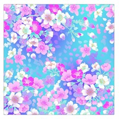 Flowers Cute Pattern Large Satin Scarf (Square)