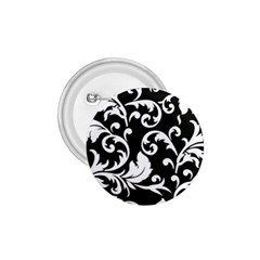 Black And White Floral Patterns 1.75  Buttons