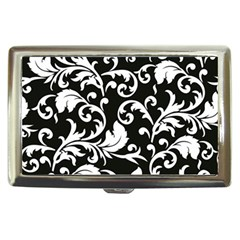 Black And White Floral Patterns Cigarette Money Cases