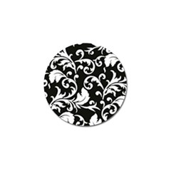 Black And White Floral Patterns Golf Ball Marker (10 Pack)