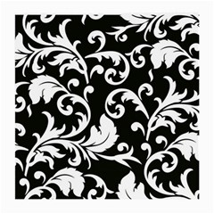Black And White Floral Patterns Medium Glasses Cloth