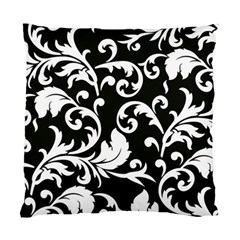 Black And White Floral Patterns Standard Cushion Case (One Side)
