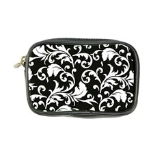 Black And White Floral Patterns Coin Purse