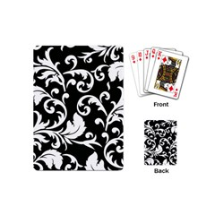 Black And White Floral Patterns Playing Cards (Mini)
