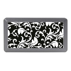 Black And White Floral Patterns Memory Card Reader (mini)