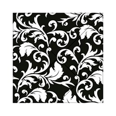 Black And White Floral Patterns Acrylic Tangram Puzzle (6  X 6 )