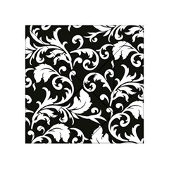 Black And White Floral Patterns Acrylic Tangram Puzzle (4  x 4 )