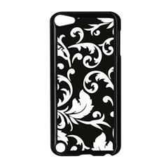 Black And White Floral Patterns Apple iPod Touch 5 Case (Black)