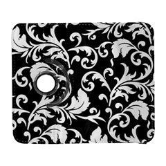 Black And White Floral Patterns Galaxy S3 (flip/folio)