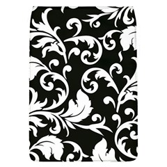 Black And White Floral Patterns Flap Covers (L)