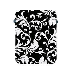 Black And White Floral Patterns Apple Ipad 2/3/4 Protective Soft Cases