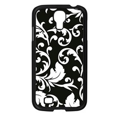 Black And White Floral Patterns Samsung Galaxy S4 I9500/ I9505 Case (black)