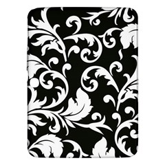 Black And White Floral Patterns Samsung Galaxy Tab 3 (10 1 ) P5200 Hardshell Case