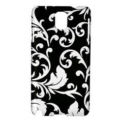 Black And White Floral Patterns Samsung Galaxy Note 3 N9005 Hardshell Case