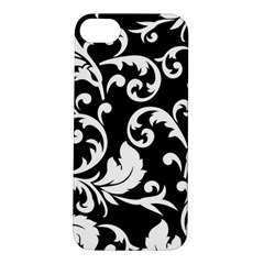 Black And White Floral Patterns Apple Iphone 5s/ Se Hardshell Case