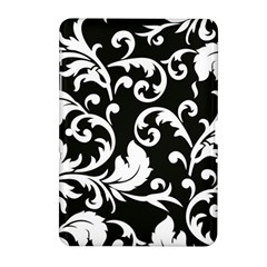 Black And White Floral Patterns Samsung Galaxy Tab 2 (10 1 ) P5100 Hardshell Case