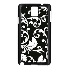 Black And White Floral Patterns Samsung Galaxy Note 3 N9005 Case (black)