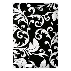 Black And White Floral Patterns Kindle Fire Hdx Hardshell Case
