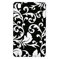 Black And White Floral Patterns Samsung Galaxy Tab Pro 8 4 Hardshell Case