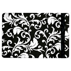 Black And White Floral Patterns Ipad Air Flip