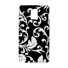 Black And White Floral Patterns Samsung Galaxy Note 4 Hardshell Case