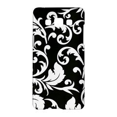 Black And White Floral Patterns Samsung Galaxy A5 Hardshell Case