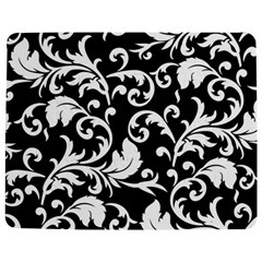 Black And White Floral Patterns Jigsaw Puzzle Photo Stand (Rectangular)