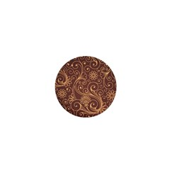 Gold And Brown Background Patterns 1  Mini Magnets