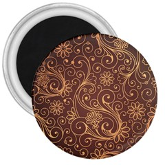 Gold And Brown Background Patterns 3  Magnets