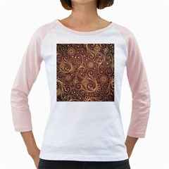 Gold And Brown Background Patterns Girly Raglans