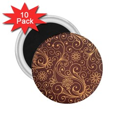 Gold And Brown Background Patterns 2 25  Magnets (10 Pack)
