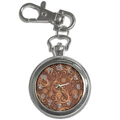 Gold And Brown Background Patterns Key Chain Watches