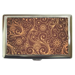 Gold And Brown Background Patterns Cigarette Money Cases