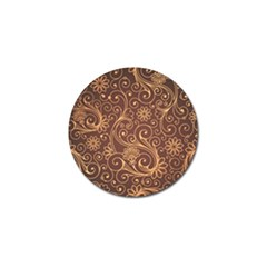 Gold And Brown Background Patterns Golf Ball Marker