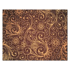 Gold And Brown Background Patterns Rectangular Jigsaw Puzzl