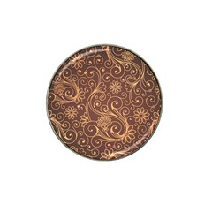 Gold And Brown Background Patterns Hat Clip Ball Marker (10 Pack)