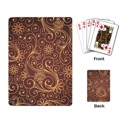 Gold And Brown Background Patterns Playing Card