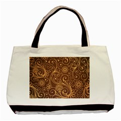 Gold And Brown Background Patterns Basic Tote Bag