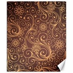 Gold And Brown Background Patterns Canvas 8  X 10