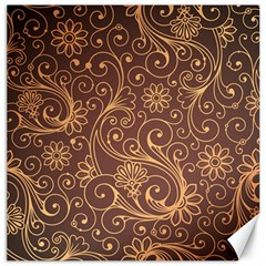 Gold And Brown Background Patterns Canvas 16  X 16