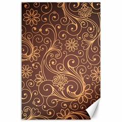 Gold And Brown Background Patterns Canvas 24  x 36