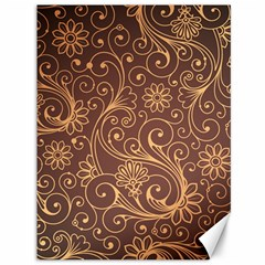Gold And Brown Background Patterns Canvas 36  X 48