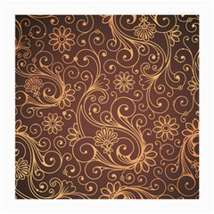 Gold And Brown Background Patterns Medium Glasses Cloth