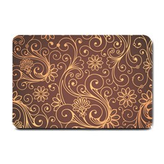 Gold And Brown Background Patterns Small Doormat