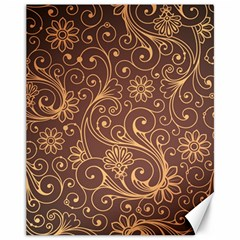 Gold And Brown Background Patterns Canvas 11  X 14