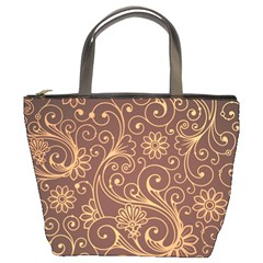Gold And Brown Background Patterns Bucket Bags