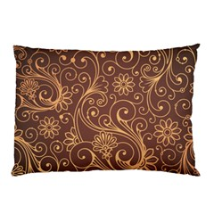 Gold And Brown Background Patterns Pillow Case