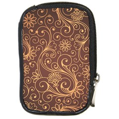 Gold And Brown Background Patterns Compact Camera Cases