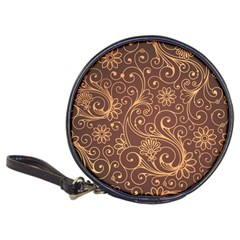 Gold And Brown Background Patterns Classic 20 Cd Wallets