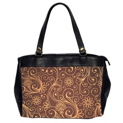 Gold And Brown Background Patterns Office Handbags (2 Sides)